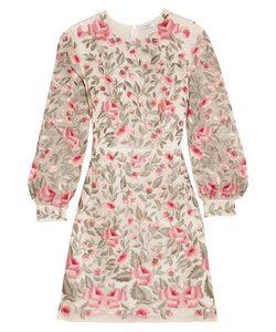 Vilshenko   Sue Embroide Silk-Organza Dress