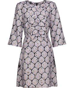 Suno | Ruffled Silk-Blend Jacquard And Brocade Mini Dress