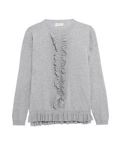Zimmermann   Mischief Ruffled Cotton-Jersey Sweater