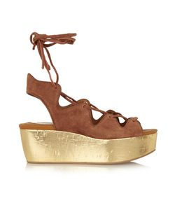 See by Chloé | Liane Cork And Suede Wedge Sandals