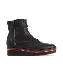 M Missoni | Leather Platform Ankle Boots
