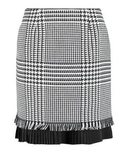 Mother Of Pearl | Phoebe Houndstooth Cotton Mini Skirt