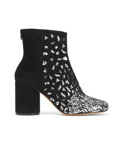 Maison Margiela | Sequined Suede Ankle Boots