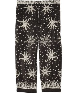 Anna Sui | Printed Crepe De Chine Straight-Leg Pants