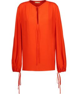 Michael Kors Collection | Pleated Silk Blouse