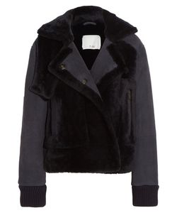 Tibi | Paneled Shearling Jacket