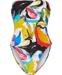 Norma Kamali | Bishop Printed Bandeau Swimsuit