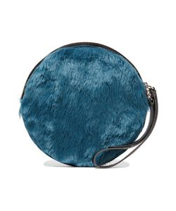Mm6 Maison Margiela | Faux Leather-Trimmed Faux Fur Clutch