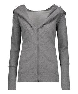 Norma Kamali | Cotton-Blend Hooded Sweatshirt