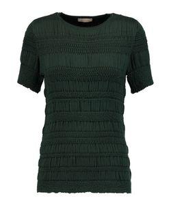 Nina Ricci | Smocked Silk-Jersey Top