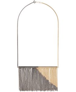 Mm6 Maison Margiela | Two-Tone Fringed And Plated Necklace