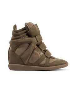 Isabel Marant | Bekett Leather-Paneled Suede Wedge Sneakers
