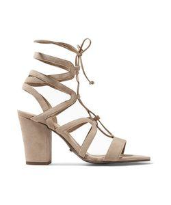 Schutz | Boi Lace-Up Cutout Suede Sandals