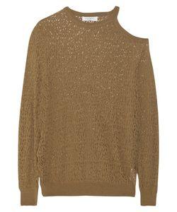 Sandro | Sepia Cutout Pointelle-Knit Sweater