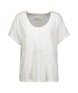 Current/Elliott | The Slouchy Printed Cotton-Jersey T-Shirt Off-