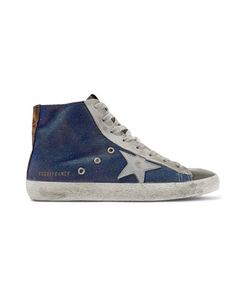 Golden Goose Deluxe Brand | Francy Distressed Paneled Faille High-Top Sneakers