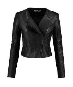 J Brand | Landing Stretch Jersey-Paneled Leather Jacket