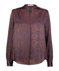 L'agence | Bianca Printed Silk-Satin Blouse