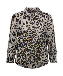 Equipment | Signature Leopard-Print Washed-Silk Shirt
