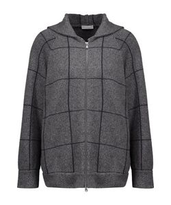 Brunello Cucinelli | Checked Intarsia-Knit Cashmere Hooded Cardigan