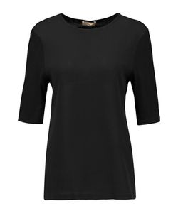 Michael Kors Collection | Crepe And Jersey T-Shirt