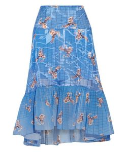 Preen by Thornton Bregazzi | Harris Paneled Printed Fil Coupé Skirt