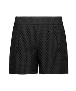 Lela Rose | Broderie Anglaise Cotton Shorts