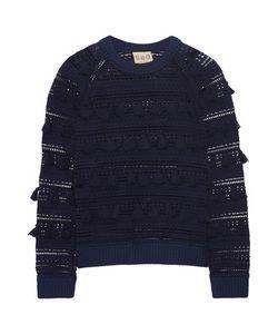 Sea | Tasseled Open-Knit Cotton Sweater