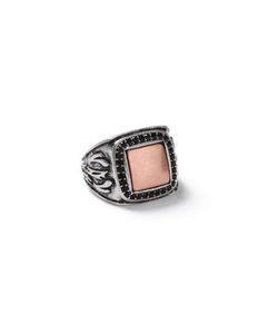 Topman | Antique Look And Copper Square Ring