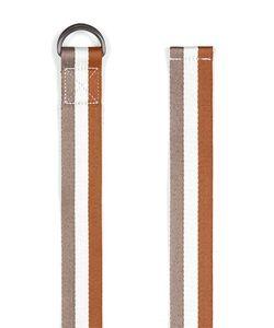 Topman   Multi Tan And Stripe Webbed Belt