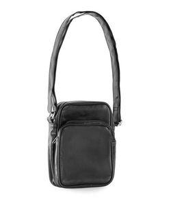 Topman | Faux Leather Messenger Bag