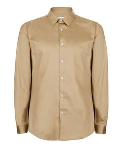 Topman | Mens Beige Premium Stone Egyptian Cotton Dress Shirt