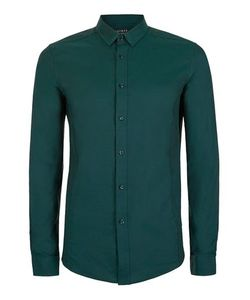 Topman | Mens Green And Black Stretch Skinny Fit Dress Shirt