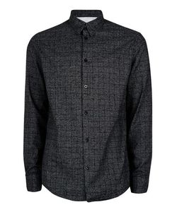 Topman | Mens Selected Homme Washed Black Check Cotton Shirt