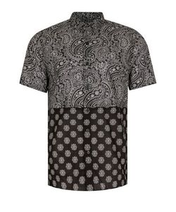 Topman | Bandana Print Short Sleeve Casual Shirt