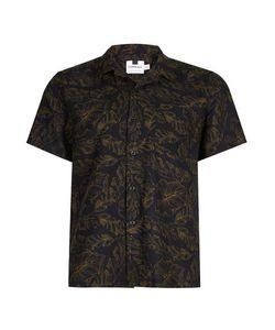Topman | Banana Leaf Print Short Sleeve Casual Shirt