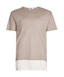 Topman | Tan Double Layer Longline T-Shirt