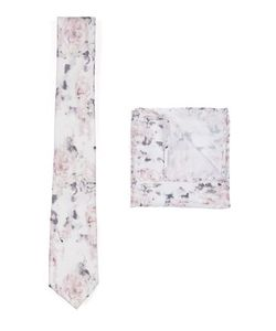 Topman | Multi Washed Print Tie And Pocket Square Set