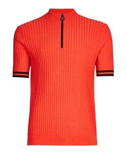 Topman | Zip Neck Knitted T-Shirt