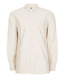 Topman | Stone Slub Cotton Short Sleeve Casual Shirt
