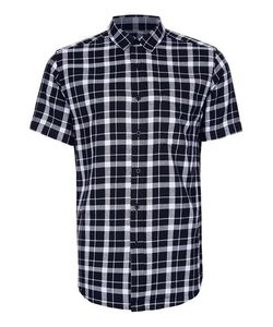 Topman | And Check Short Sleeve Casual Shirt