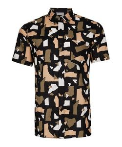 Topman | Multi Torn Paper Print Short Sleeve Casual Shirt