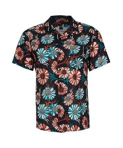 Topman | Sunflower Print Short Sleeve Casual Shirt