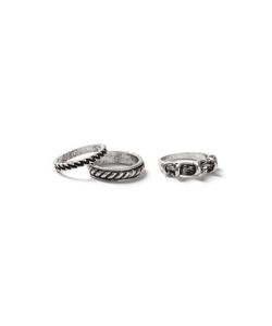 Topman | Look Twisted Rings 3 Pack