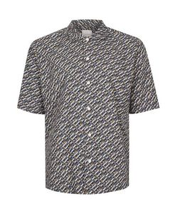 Topman | Multi Premium Geo Print Short Sleeve Casual Shirt