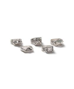 Topman | Look Chunky Engraved Rings 5 Pack
