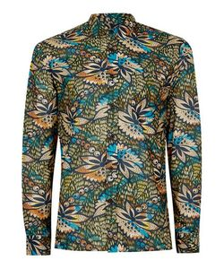 Topman | Multi Pattern Drape Fabric Shirt