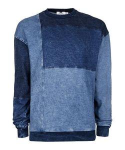 Topman | Denim Panelled Sweatshirt