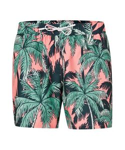 Topman | And Palm Print Swim Shorts
