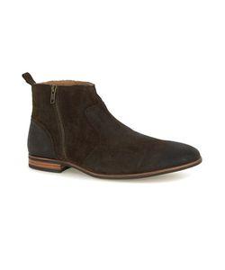 Topman   Waxed Suede Zip Boots